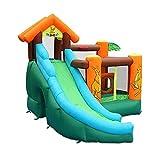 BSJZ Gran Piscina Inflable al Aire Libre Castillo Hinchable, Centro de Actividades de Juegos para niños o Adultos con tobogán acuático, 385X300X290cm,