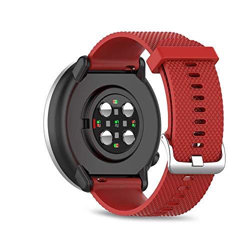 Ficocean Correa de Reloj Compatible para Polar Ignite, Pulsera de Silicona Brazalete de Repuesto Banda de Deportes Correa de Muñeca para Polar Ignite (Rojo, L)