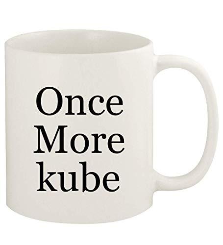 Once More kube - 11oz Ceramic White Coffee Mug Cup, White