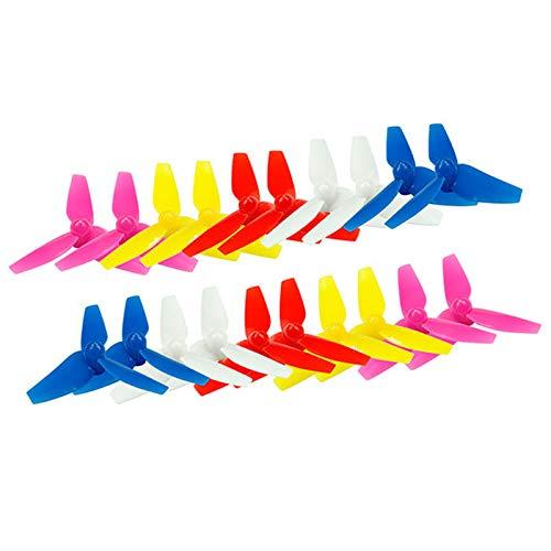 MMI-LX LCONG - Juego de 20 piezas de 48 mm 3 cuchillas RC Drone Quadcopter piezas para TINY 8X