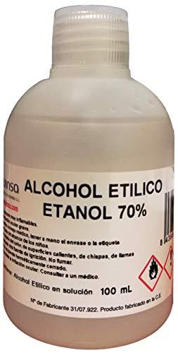 Alcohol Etilico 70% Etanol. Envase 100 mL.