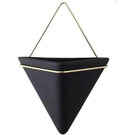 iSpchen Jardinière Triangulaire, Pot de Fleurs en Céramique Simple, Décoration Murale de Jardinière Géométrique Pot de Fleur Mural pour La Décoration