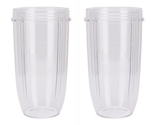 2 Extra Large Replacement Cups for NutriBullet High-Speed Blender/Mixer | 32oz NutriBullet Cup (Pack of 2) by Preferred Parts