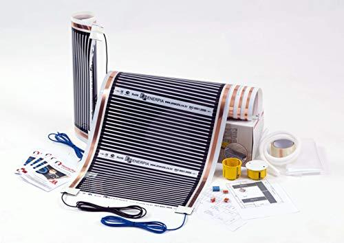 220 W/qm Fußbodenheizung Set auf Ihrer Skizze, speziell für Sie entwickelt und gesammelt, Elektrische Infrarot Heizfolie für Laminat und Parkett (4m2)