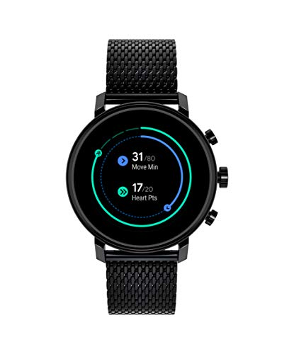 Movado Connect 2.0 Unisex Powered with Wear OS by Google Stainless Steel and Ionic Plated Black Steel Smartwatch, Color: Black (Model: 3660034)