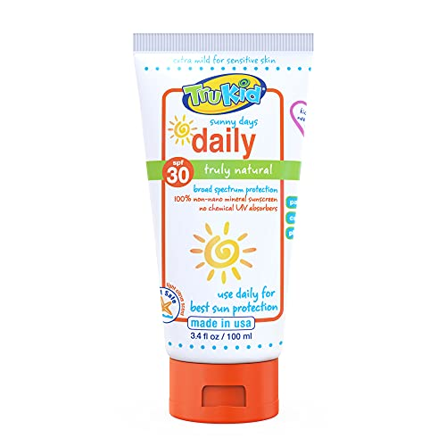 TruKid Sunny Days Daily SPF 30 UVA/UVB Protection Sunscreen for Baby,...