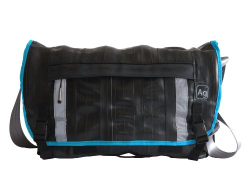 Alchemy Goods Pike Messenger Bag, Made from Recycled Bike Tubes, Turquoise