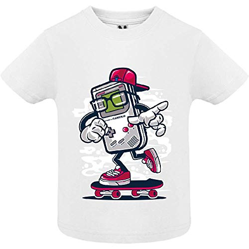 LookMyKase T-Shirt - Street Gamers - Bébé Garçon - Blanc - 2ans