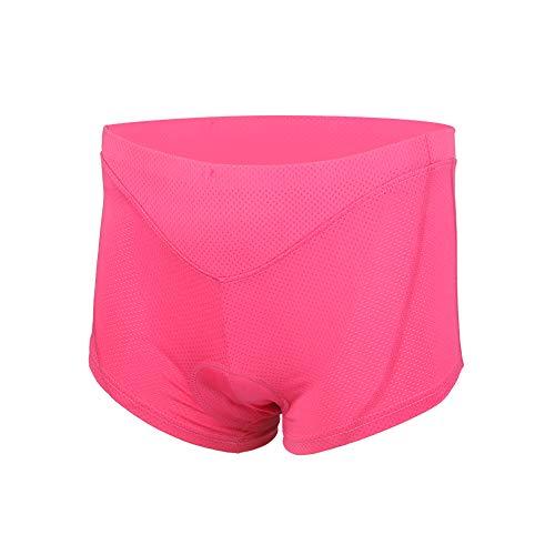 Dames 3D Gel Gevoerde Fietsen Ondergoed Shorts, Fietsbroek Ademende Elasticiteit Sneldrogend Lichtgewicht Zwart