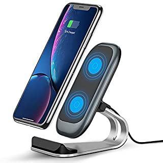 Fast Wireless Charger, 10W Wireless Charging Stand,Compatible iPhone 12/11/XR/Xs Max/XS/X/8/8 Plus, Fast-Charging Galaxy S9/S9+/S8/S8+/Note 9 and More (No AC Adapter) (B08VNTRXF1) | Amazon price tracker / tracking, Amazon price history charts, Amazon price watches, Amazon price drop alerts