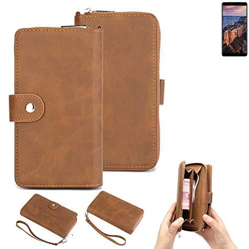 K-S-Trade® Handy-Schutz-Hülle Für -M-Horse Pure 1- Portemonnee Tasche Wallet-Case Bookstyle-Etui Braun (1x)