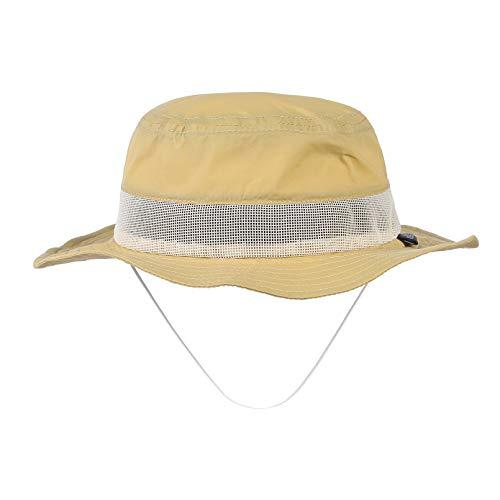 GEMVIE Bebe Sombrero Pescador, Secado Rápido ala Ancha Transpirable Sol Gorra Niña/Niño Verano/Primavera Playa Gorro (Amarillo, 2-4 años)