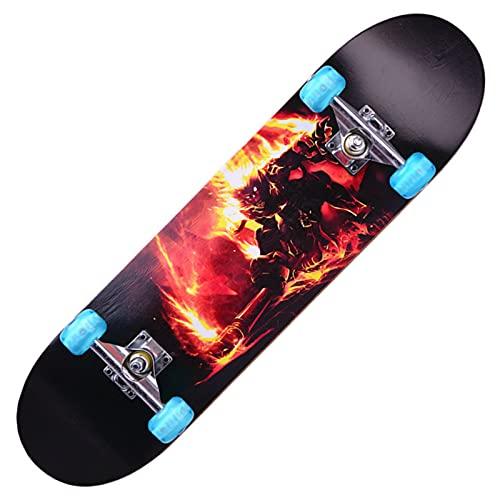 Completo Skateboards para Principiantes, Skateboard Profesional, Skateboard Adolescente, Longboard 7 Capas Monopatín de Madera de Arce, Diseñado para di peso inferiore a 330 libbre (Color:Q2)