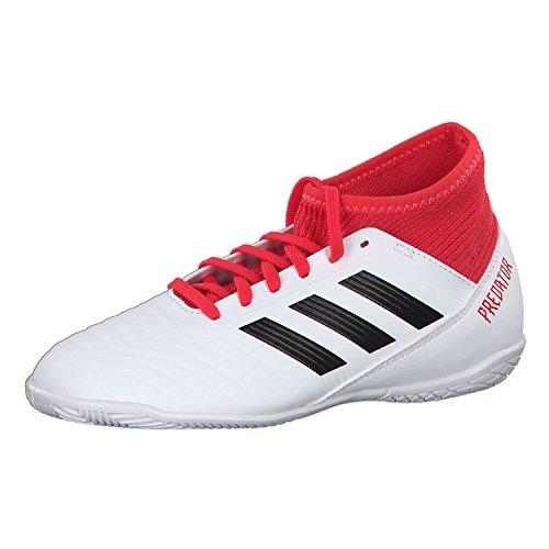 adidas Unisex-Kinder Predator Tango 18.3 Indoor Gymnastikschuhe, Mehrfarbig (FTWR White/core Black/real Coral S18), 32 EU