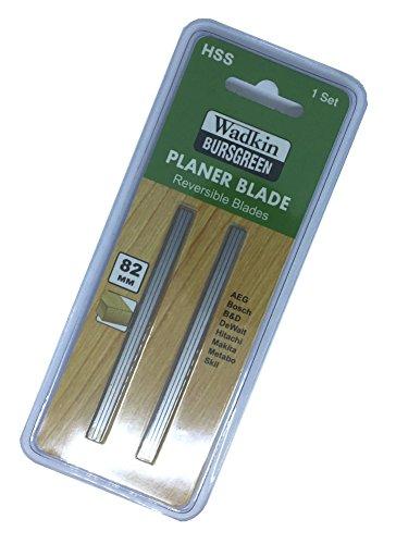 """Par de cuchillas de 82 mm (3,1/4"""") HSS reversibles de repuesto adecuado para cepilladoras Makita, Black & Decker, Bosch, DeWalt, Trend y Elu"""