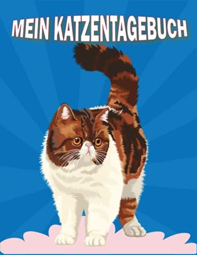 Mein Katzentagebuch: ein Gesundheits und Krankenblatt für Ihre Katzen | Behalten Sie die Gesundheit und Medikation Ihres Fellbabys im Auge.
