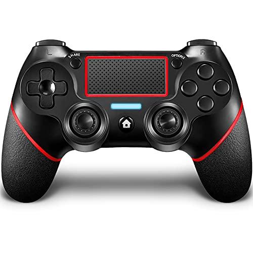GEEMEE Controller Wireless per PS-4, Controller Touch Panel con Doppia Vibrazione a Sei Assi e Audio, Bluetooth Senza Fili Gamepad Joystick Gamepad Gaming Controller