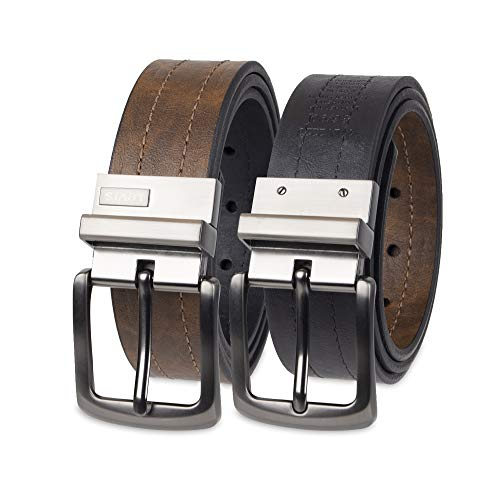 Levi's Men's Levi's 1 9/16 in. Reversible Belt (Regular and Big & Tall Sizes),Brown/Black,38