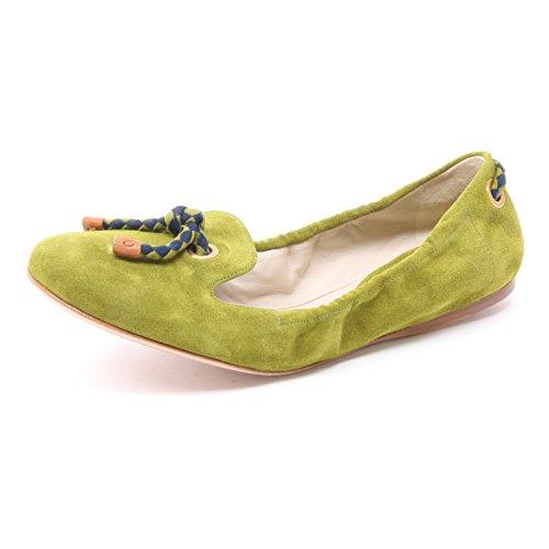Car Shoe B3959 Mocassino Donna Scarpa Verde Shoe Loafer Woman [36]