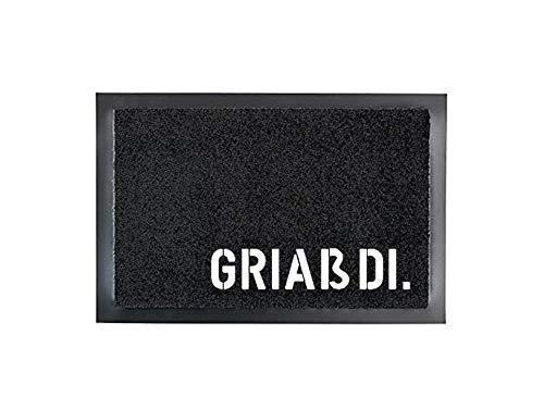 GRIAß DI. Fußmatte | Fußabtreter | Türvorleger | 40 x 60 cm | waschbar | mit Spruch | Geschenk | Hochzeit | Geburtstag | Einzug | Bayern