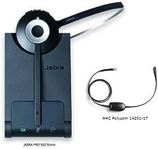 Jabra PRO 920 Mono Entry Level Wireless Headset with Polycom 14201-17 EHS