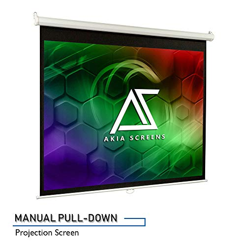 Why Choose Akia Screens Manual B 110 inch 16:9 Pull Down 8K 4K Ultra HD 3D Ready Movie and Home Thea...