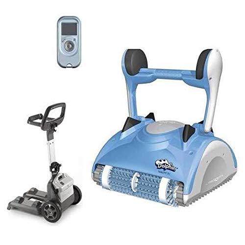Maytronics Dolphin Nauty TC - Robot de Piscine électrique avec Télécommande et Chariot