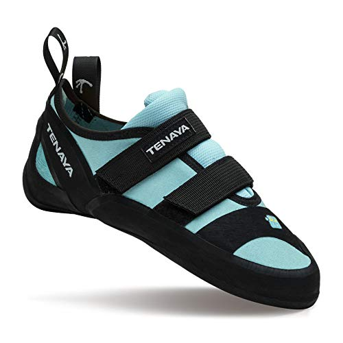 Tenaya Ra Woman Climbing Shoes Kletterschuhe, Damen, 41011-95, Schwarz/Türkis, 8,5 UK