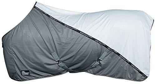 Harry's Horse Mesh-Pro deken, vliegen- of koeldeken, kruisband, staartriem, 105 cm, wit
