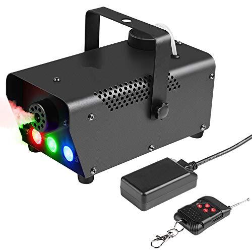 Fog Machine Baisun 500W Wireless Remote Control Smoke Machine With Sound Activated LED Lights
