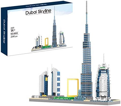 wholesale Architecture Dubai Skylines outlet sale 2021 Model Micro Building Block Set and Gift for Kids and Adults ,Micro Block2545pieces (with Color Package Box) online sale