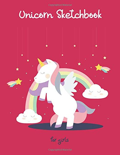 Unicorn Sketchbook for girls: 150 blank pages for drawing and sketching - 8.5' x 11'