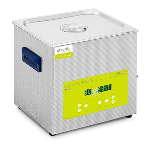 Ulsonix Lavatrice a Ultrasuoni Vasca Ultrasonica PROCLEAN 10.0S (10 L, 230 V, 240 W, Acciaio Inox, 40 kHz, Degassaggio)
