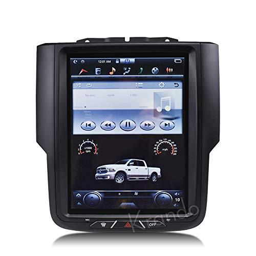 "KJHGYU Android 8.1 10.4 ""Tesla Vertikale Schirm-Auto-Audio Radio Multimedia GPS-Navigationssystem kompatibel Dodge Ram 1500 2014-2018,8.132g"