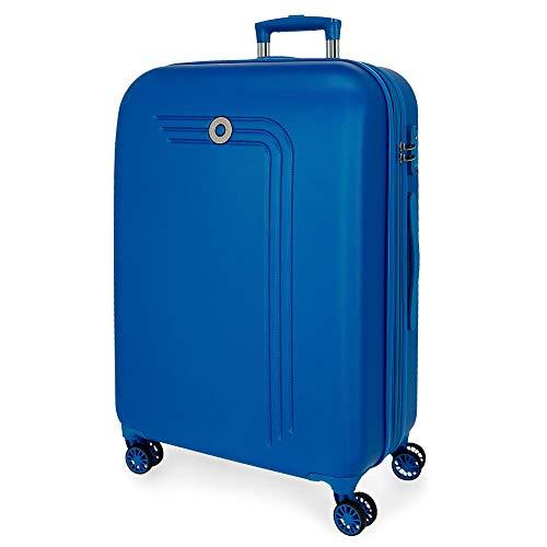 Movom Riga Maleta Mediana Azul 49x70x27 cms Rígida ABS Cierre combinación 72L 3,9Kgs 4 Ruedas Dobles Extensible