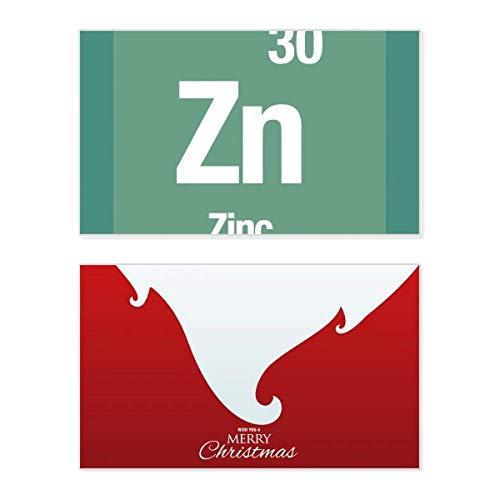 Zn Zink Chemie Element Wissenschaft Urlaub Merry Christmas Karte Weihnachten Vintage Nachricht