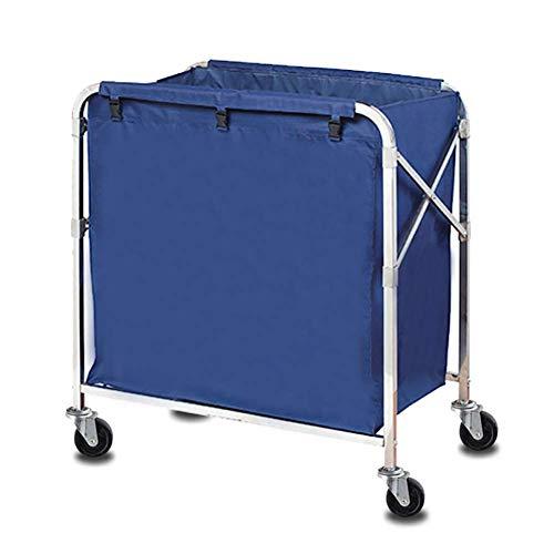 GUONING-L Rueda Sombrilla herramienta de plegamiento de lino Auto en vestíbulo, hotel móvil de almacenamiento carro de la compra con la rueda universal, Blue Room Higiene Limpieza del Coche Carrito de