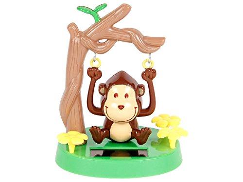Alsino Figurine Singe (57/9748) Se Balance à l'énergie Solaire Type Nohohon balancier Deco Voiture Maison terrasse Jardin Cadeau décoratif Flip Swin