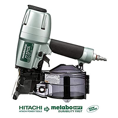 "Metabo HPT NV65AH2 Coil Siding Nailer, 1-1/2"" to 2-1/2"" Nails, Wire/Plastic Sheet Collation, 5 Year Warranty by Metabo HPT"