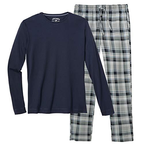 Jockey Pyjama Navy/kariert große Größen, XL Größe:3XL