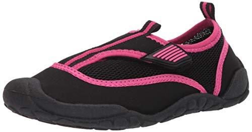 Amazon Essentials Unisex Kids' Water Shoe, Black, 2/3 M US Big Kid
