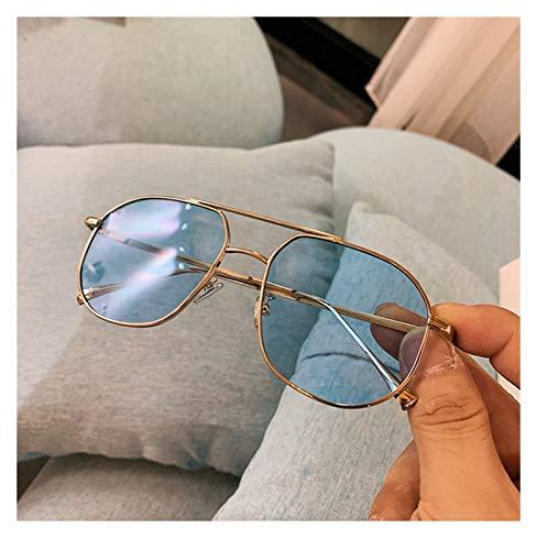 SSN Aviator Style Retro Caja Gafas De Sol Femenina Versión Coreana De Las Gafas De Visión Nocturna Amarilla Clásica De Los Hombres De Moda, Gafas De Sol Gafas De Sol (Color : C)