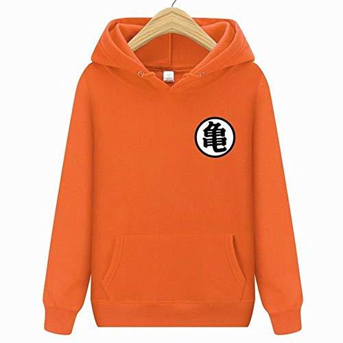 Männer Dragon Ball Hoodie Orange Pink Herbst Neue Parodie Cartoon Dragon Ball Druck Baumwolle Männer Hoodies Sweatshirts