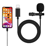 Microphone for iPhone, Professional Lavalier Microphone Speaker, RAYROW Audio Video Recording Condenser Microphone for Streaming and Recording Compatible with Phone 7/7 plus/8/8 plus/11/11 Pro/11 Pro