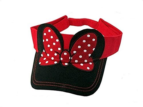Disney Youth Kids Hat Visor Minnie Bow Red Black (OSFA)