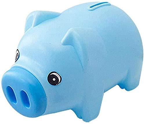 Guay y elegante alcancía, juguetes lindos de monedas, pequeños y lindos, fáciles de llevar, 19 * 10 * 11.5cm,Blue