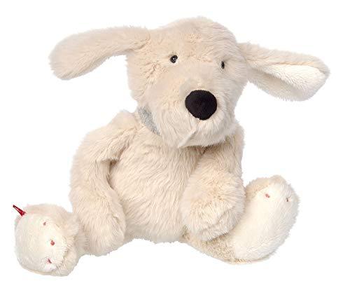 Sigikid Mädchen und Jungen, Hund Sweety, Kuscheltier, empfohlen ab 12 Monaten, weiß, 39226