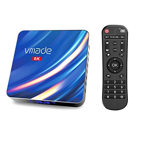 Android 10.0 TV Box, Vmade X96 Max Android TV Box, 4GB RAM 64GB ROM, H616 Quad-Core 64bits ARM Cortex-A53@ bis zu 1,5 GHz, unterstützt 2,4G 5G Dual WiFi/6K/BT 5.0/3D/USB 2.0/H.265 Smart TV Box