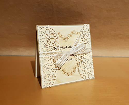 Hochzeitskarte, Glückwunschkarte, Grußkarte, Karte zur Hochzeit, Namen/Datum personalisierbar, Handarbeit
