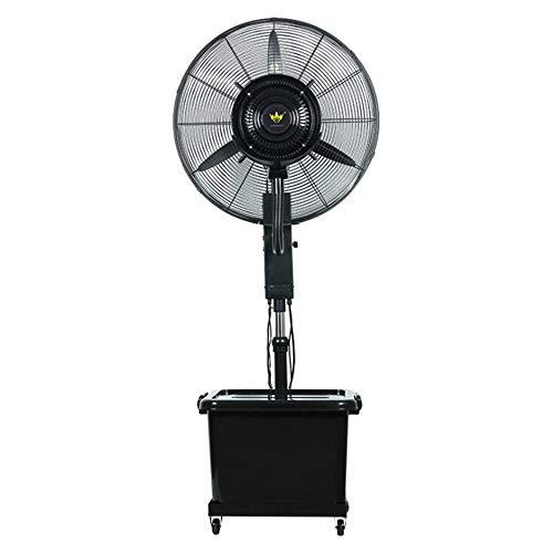 FUFU Climatizadores evaporativos Ventilador de niebla oscilante, 3 velocidades, 90 ° Oscilante, Ventilador de altura ajustable y ventilador de piso de ángulo ajustable para restaurantes, hospitales, c